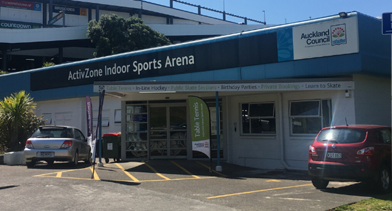 Exterior of the building at ActivZone sports arena.