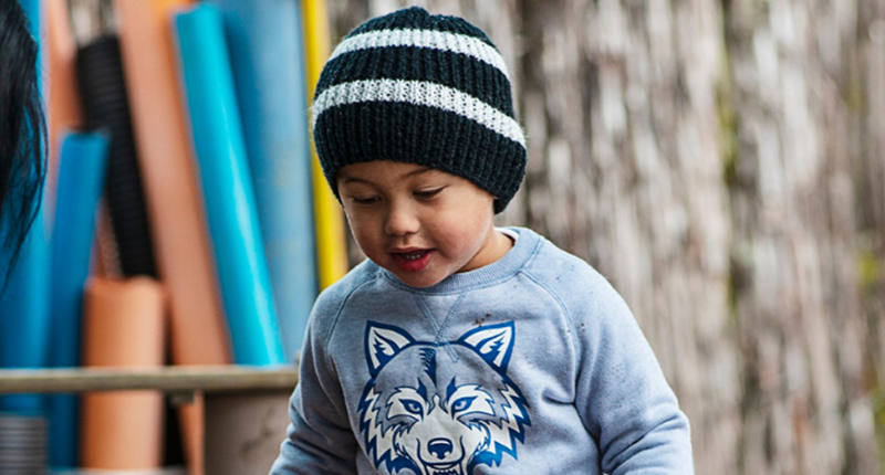 Generic kauri kids young boy in beanie hat