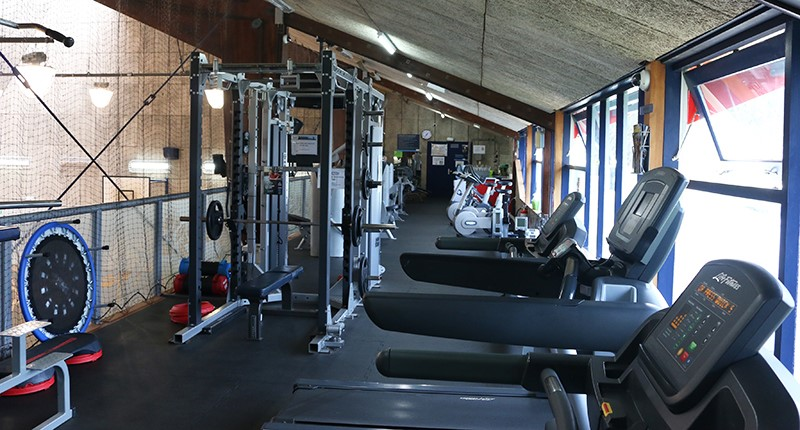Treadmills and weights machines at the East Coast Bays Leisure Centre.