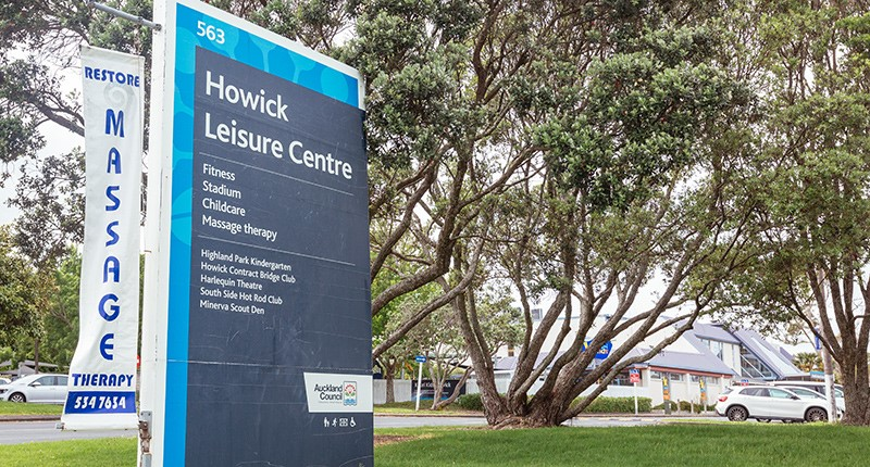 Howick Leisure Centre Exterior signage