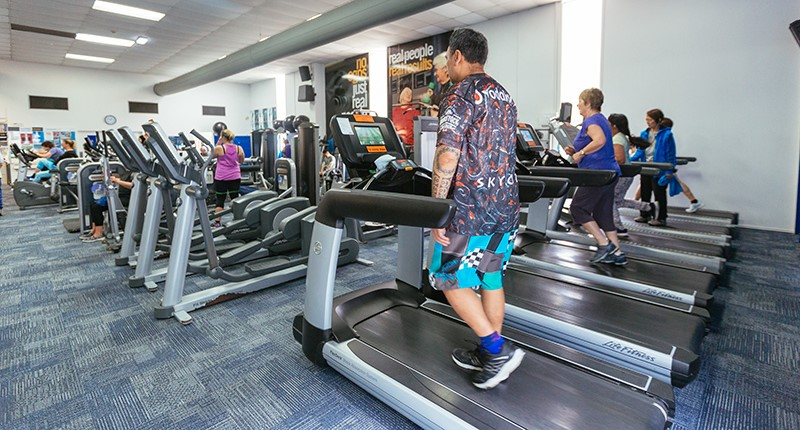 multiple people on treadmills at the howick leisure centre gym