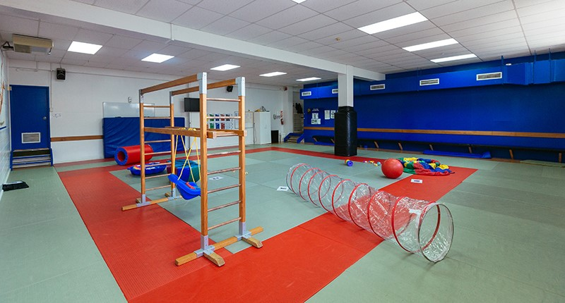Howick Leisure Centre Judo room with gym equimpment