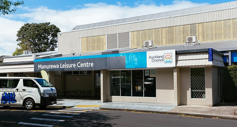 Manurewa Leisure Centre exterior entrance