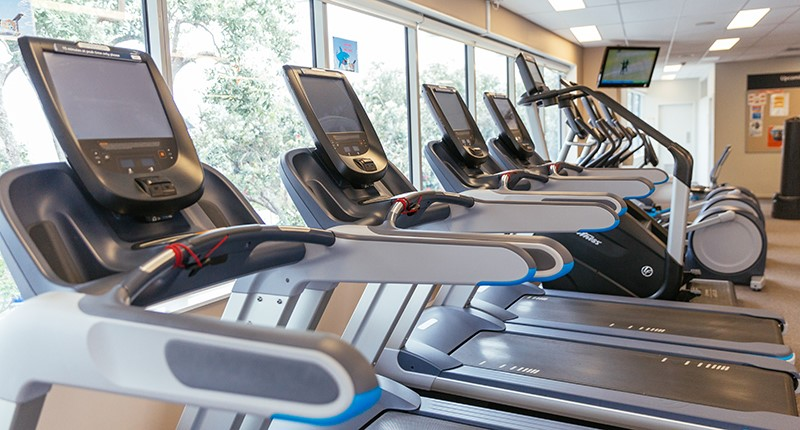 image of treadmills in a fitness centre