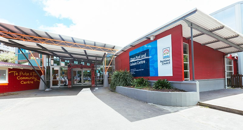 Otara pool and leisure centre entrance