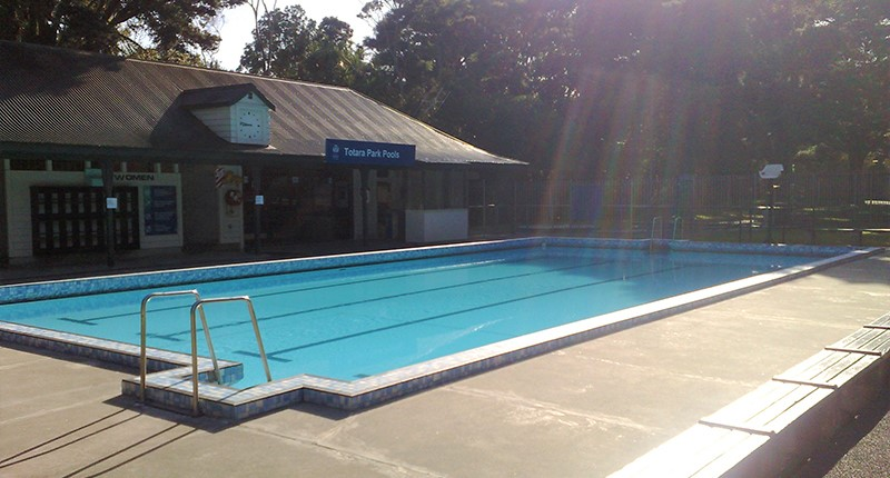photo of pool at totara park