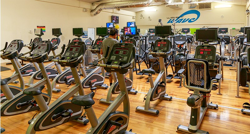 photo of cardio equipment at west wave pool and leisure centre